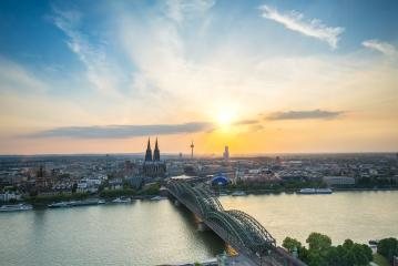 view of Cologne city at sunset- Stock Photo or Stock Video of rcfotostock | RC-Photo-Stock
