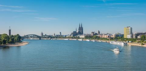 view of Cologne city with cathedral at summer- Stock Photo or Stock Video of rcfotostock | RC-Photo-Stock