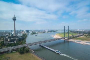 View of Dusseldorf at a cloudy day- Stock Photo or Stock Video of rcfotostock | RC-Photo-Stock