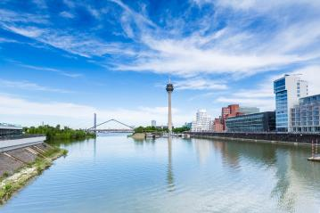 View of Dusseldorf at summer time- Stock Photo or Stock Video of rcfotostock | RC-Photo-Stock