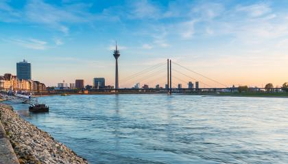 view of Dusseldorf at sunset : Stock Photo or Stock Video Download rcfotostock photos, images and assets rcfotostock | RC-Photo-Stock.: