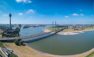view of Dusseldorf at the rhine shore panorama- Stock Photo or Stock Video of rcfotostock   RC-Photo-Stock