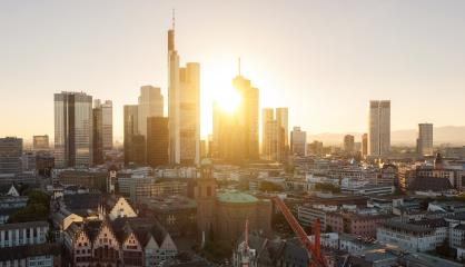 View of Frankfurt am Main at summer sunset- Stock Photo or Stock Video of rcfotostock | RC-Photo-Stock