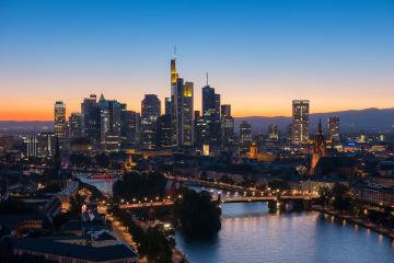 view of Frankfurt am Main at sunset- Stock Photo or Stock Video of rcfotostock | RC-Photo-Stock