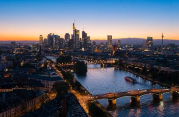 view of Frankfurt am Main city at night- Stock Photo or Stock Video of rcfotostock | RC-Photo-Stock