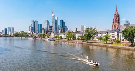 View of Frankfurt am Main skyline at summer, Germany- Stock Photo or Stock Video of rcfotostock | RC-Photo-Stock