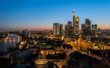 View of Frankfurt am Main skyline at sunset : Stock Photo or Stock Video Download rcfotostock photos, images and assets rcfotostock | RC-Photo-Stock.: