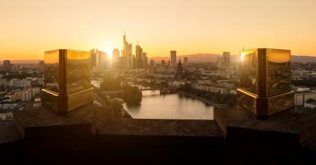 View of Frankfurt at Sunset : Stock Photo or Stock Video Download rcfotostock photos, images and assets rcfotostock | RC-Photo-Stock.: