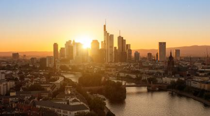 View of Frankfurt City at sunset- Stock Photo or Stock Video of rcfotostock | RC-Photo-Stock