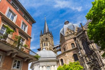 view of the Cathedral of Aachen- Stock Photo or Stock Video of rcfotostock | RC-Photo-Stock