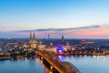 view of the Cologne Cathedral at sunset- Stock Photo or Stock Video of rcfotostock | RC-Photo-Stock
