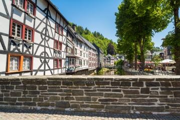 view of the historic old town of Monschau at summer- Stock Photo or Stock Video of rcfotostock | RC-Photo-Stock
