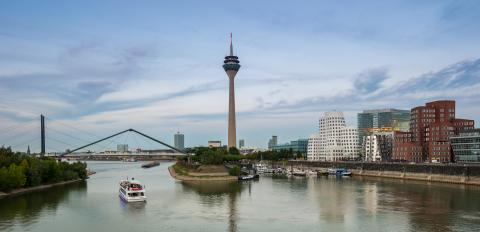 View of the media harbor in Dusseldorf - Stock Photo or Stock Video of rcfotostock | RC-Photo-Stock