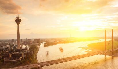 view of the old town of dusseldorf at Sunset- Stock Photo or Stock Video of rcfotostock | RC-Photo-Stock