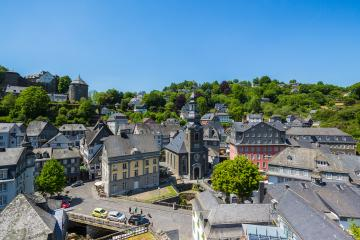 view of the Old Town of Monschau- Stock Photo or Stock Video of rcfotostock | RC-Photo-Stock