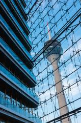 View of the television tower Rheinturm of Dusseldorf in Germany : Stock Photo or Stock Video Download rcfotostock photos, images and assets rcfotostock | RC-Photo-Stock.: