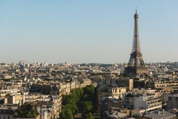 View on Eiffel tower at sunset, Paris, France- Stock Photo or Stock Video of rcfotostock | RC-Photo-Stock