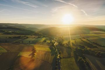 View to the Nationalpark Eifel at sunrise in germany- Stock Photo or Stock Video of rcfotostock | RC-Photo-Stock