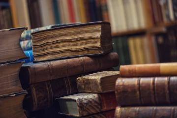 Vintage, antiquarian books pile in the Library : Stock Photo or Stock Video Download rcfotostock photos, images and assets rcfotostock | RC-Photo-Stock.: