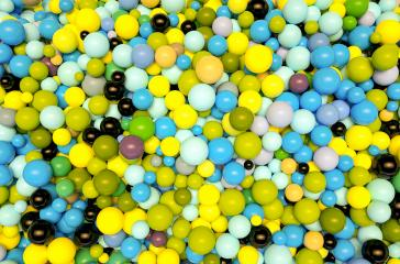 vintage colored plastic balls background - 3D Rendering- Stock Photo or Stock Video of rcfotostock | RC-Photo-Stock