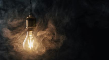 Vintage Edison lightbulb with smoke  : Stock Photo or Stock Video Download rcfotostock photos, images and assets rcfotostock | RC-Photo-Stock.: