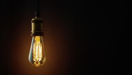 Vintage hanging Edison light bulb over dark background : Stock Photo or Stock Video Download rcfotostock photos, images and assets rcfotostock | RC-Photo-Stock.: