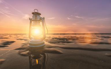 vintage lantern at the beach on a summer sunset, romantic concept image- Stock Photo or Stock Video of rcfotostock | RC-Photo-Stock