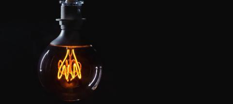 Vintage lightbulb on dark background- Stock Photo or Stock Video of rcfotostock   RC-Photo-Stock