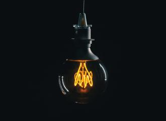Vintage lightbulb on dark background- Stock Photo or Stock Video of rcfotostock | RC-Photo-Stock