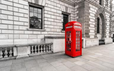 Vintage style image of typical red telephone booth in London- Stock Photo or Stock Video of rcfotostock | RC-Photo-Stock
