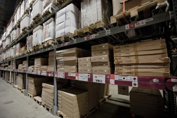 Warehouse shelves loaded up with bulk boxes : Stock Photo or Stock Video Download rcfotostock photos, images and assets rcfotostock | RC-Photo-Stock.: