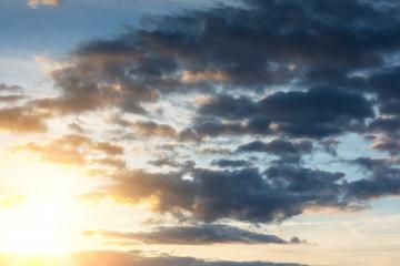 warm Sunset sky with sunlight and clouds- Stock Photo or Stock Video of rcfotostock | RC-Photo-Stock