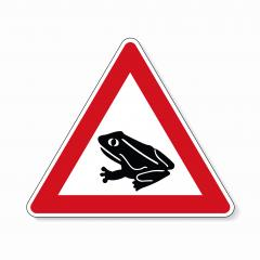 Warning frog, toad migration and save frogs. Traffic sign attention frogs crossing the road on white background. Vector illustration. Eps 10 vector file. : Stock Photo or Stock Video Download rcfotostock photos, images and assets rcfotostock | RC-Photo-Stock.: