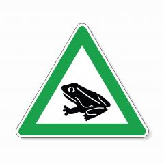 Warning frog, toad migration and save frogs. Traffic sign in green color attention frogs crossing the road on white background. Vector illustration. Eps 10 vector file. : Stock Photo or Stock Video Download rcfotostock photos, images and assets rcfotostock | RC-Photo-Stock.:
