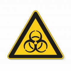 Warning sign of virus. Safety signs, warning Sign or Danger symbol BGV hazard pictogram, Biohazard biological threat alert icon on white background. Vector illustration. Eps 10.- Stock Photo or Stock Video of rcfotostock | RC-Photo-Stock