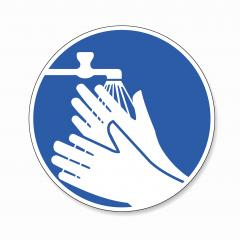 Wash your hands. hands must be washed for Coronavirus 2019-nCoV, mandatory sign or safety sign, on white background. Vector Eps 10.- Stock Photo or Stock Video of rcfotostock | RC-Photo-Stock