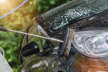Washing car with soap and brush- Stock Photo or Stock Video of rcfotostock | RC-Photo-Stock