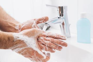 Washing hands man rinsing soap with running water at sink, Coronavirus prevention hand hygiene. Corona Virus pandemic protection by cleaning hands frequently. : Stock Photo or Stock Video Download rcfotostock photos, images and assets rcfotostock | RC-Photo-Stock.:
