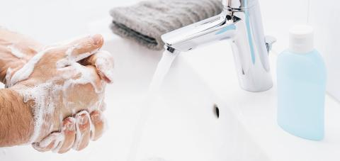 Washing hands man rinsing soap with running water at sink, Coronavirus prevention hand hygiene. Corona Virus pandemic protection by cleaning hands frequently.- Stock Photo or Stock Video of rcfotostock | RC-Photo-Stock