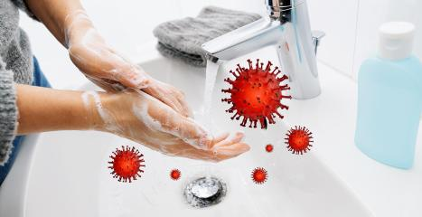 Washing hands with soap and hot water at home bathroom sink woman cleansing hand hygiene for coronavirus outbreak prevention. Corona Virus pandemic protection by washing hands frequently. : Stock Photo or Stock Video Download rcfotostock photos, images and assets rcfotostock | RC-Photo-Stock.: