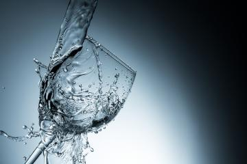 water collides with a wineglass- Stock Photo or Stock Video of rcfotostock | RC-Photo-Stock