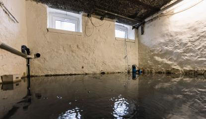Water damage in household insurance after a pipe burst or flood in the basement or garage with mold- Stock Photo or Stock Video of rcfotostock | RC-Photo-Stock