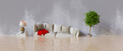 Water damager after flooding in house with furniture floating- Stock Photo or Stock Video of rcfotostock | RC-Photo-Stock