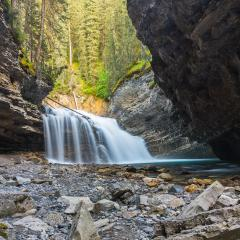 Waterfall at the Johnston Canyon in the Banff national park canada : Stock Photo or Stock Video Download rcfotostock photos, images and assets rcfotostock | RC-Photo-Stock.: