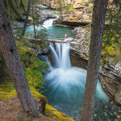 waterfalls at the Johnston Canyon in banff canada : Stock Photo or Stock Video Download rcfotostock photos, images and assets rcfotostock | RC-Photo-Stock.: