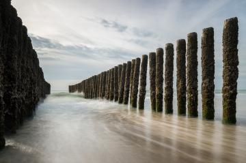 wave breakers at the Dutch beach- Stock Photo or Stock Video of rcfotostock | RC-Photo-Stock