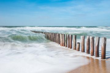 wave breakers with rough ocean waves at the beach- Stock Photo or Stock Video of rcfotostock | RC-Photo-Stock