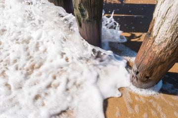 wave froth between wave breakers- Stock Photo or Stock Video of rcfotostock | RC-Photo-Stock