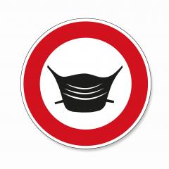 Wear a face mask or makeshift mask for coronavirus pandemic, prohibition sign, on white background. Vector illustration. Eps 10 vector file. : Stock Photo or Stock Video Download rcfotostock photos, images and assets rcfotostock | RC-Photo-Stock.: