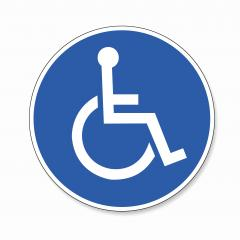 Wheelchair. handicapped access sign, mandatory sign or safety sign, on white background. Vector illustration. Eps 10 vector file.- Stock Photo or Stock Video of rcfotostock | RC-Photo-Stock